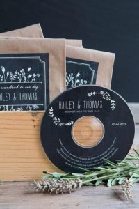wedding guest favours personalised cd